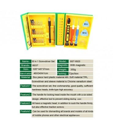 ست ابزار تعمیرات موبایل BEST BST-8920